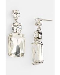 kate spade new york Opening Night Drop Earrings Clear Silver