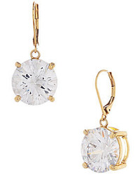 Betsey Johnson Large Crystal Drop Earrings