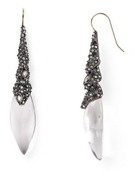 Alexis Bittar Lucite Articulating Encrusted Drop Earrings