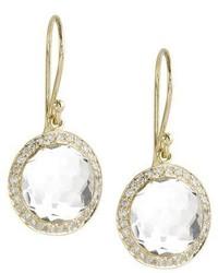 Ippolita Mini Lollipop Diamond Earrings Clear Quartz