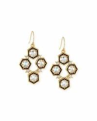 Alexis Bittar Mosaic Crystal Drop Earrings Clear