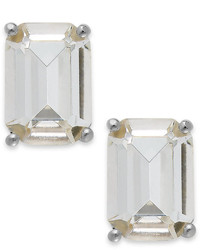 Kate Spade New York Crystal Emerald Cut Stud Earrings