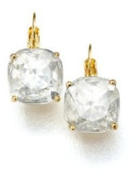 Kate Spade New York Faceted Square Drop Earringsclear