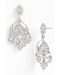 Nina Begonia Openwork Crystal Chandelier Earrings