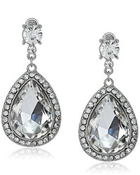 Nina Shanna Large Pear Shaped Crystal Drop Earrings