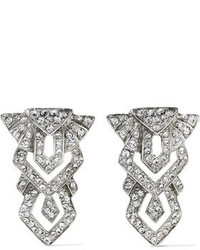 Ben-Amun Silver Tone Crystal Earrings