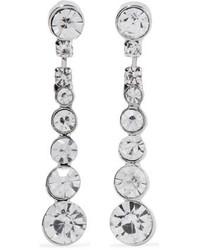 Kenneth Jay Lane Silver Tone Crystal Earrings