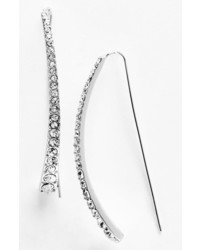 Spring Street Crystal Accent Drop Earrings Silver