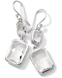 Ippolita Sterling Silver Wonderland Rectangular Mini Drop Earrings