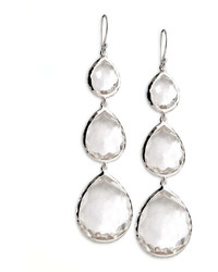 Ippolita Triple Teardrop Earrings Clear Quartz