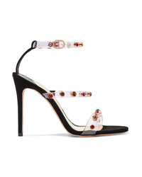Sophia Webster Rosalind Crystal Embellished Pvc And Suede Sandals