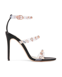 Sophia Webster Rosalind Crystal Embellished Vinyl And Satin Sandals