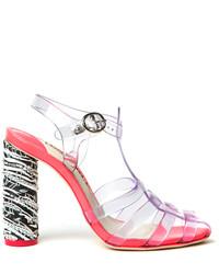 Webster Sophia Rosa Jelly Heeled Sandals