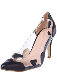 Choies Pointed Heeled Shoes With Transparent Panel