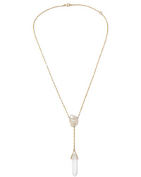 Harris Zhu 14 Karat Gold Multi Stone Necklace