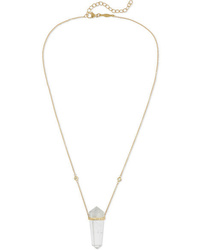 Jacquie Aiche 14 Karat Gold Quartz And Diamond Necklace