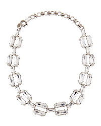 Lee Angel Clear Double Crystal Necklace