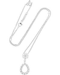 Chopard Lheure Du Diamant 18 Karat White Gold Diamond Necklace
