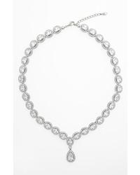 Nadri Cubic Zirconia Crystal Pear Drop Necklace