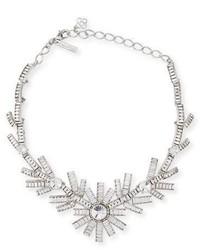 Oscar de la Renta Modern Baguette Crystal Necklace