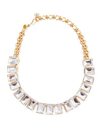 Lee Angel Rectangle Crystal Necklace