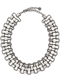 RJ Graziano Rj Graziano Crystal Chain Collar Necklace Hematite