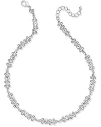 Charter Club Silver Tone Crystal Collar Necklace Created For Macys