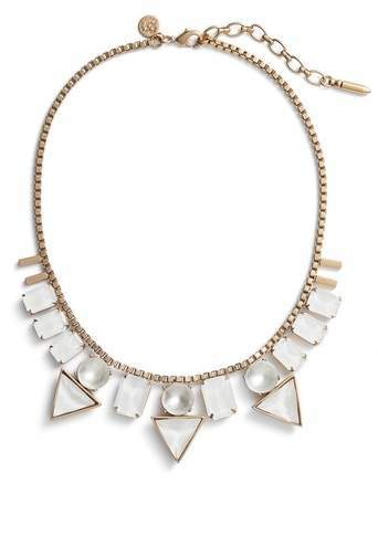Loren Hope Skylar Box Chain Crystal Necklace