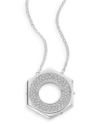 Swarovski Bolt Crystal Pav Pendant Necklace