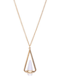 Diamante Triangular Pendant Necklace