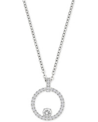 Swarovski Pave Circle Crystal Pendant Necklace