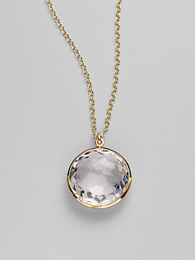 Ippolita rock candy lollipop clear quartz 18k yellow gold pendant ippolita rock candy lollipop clear quartz 18k yellow gold pendant necklace mozeypictures