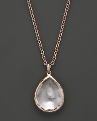 Ippolita Ros Rocky Candy Teardrop Pendant Necklace In Clear Quartz 16