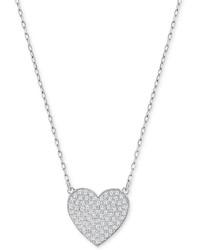 Swarovski Small Pav Crystal Heart Pendant Necklace