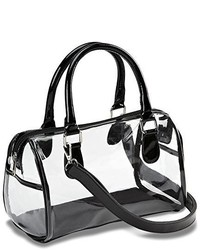 Designer inspired clear satchel handbag medium 352884