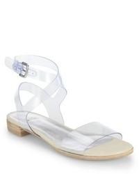 Stuart Weitzman Translucent Flat Sandals