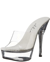Clear Rubber Heeled Sandals