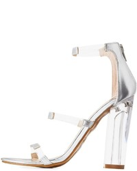 Bamboo faux leather clear dress sandals medium 6368257