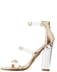 Bamboo faux leather clear dress sandals medium 6368258