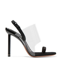 Alexander Wang Kaia Pvc And Suede Slingback Sandals