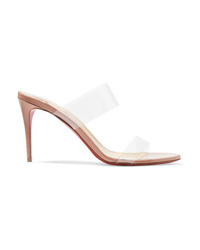 Christian Louboutin Just Nothing 85 Pvc And Patent Leather Mules