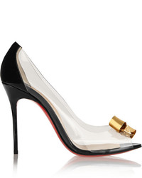 Christian Louboutin Justinodo 100 Embellished Pvc And Patent Leather Pumps