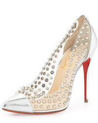Spike studded red sole pump medium 158567