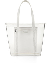 BCBGMAXAZRIA Perforated Scalloped Trim Tote