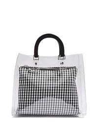 Topshop Seanna Clear Gingham Tote Bag
