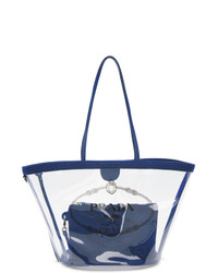 Prada Transparent And Blue Pvc Tote