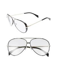 Moschino 61mm Metal Aviator Sunglasses