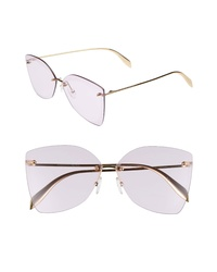 Alexander McQueen 64mm Oversize Rimless Sunglasses