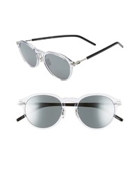 Dior Homme Technicity 52mm Round Sunglasses