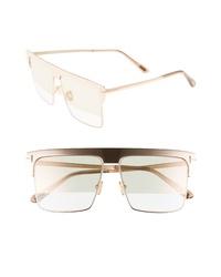 Tom Ford West 59mm Rectangular Sunglasses